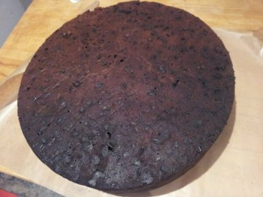"The biggest 12"" fruit cake with a slight shadow... shhh no one will notice"
