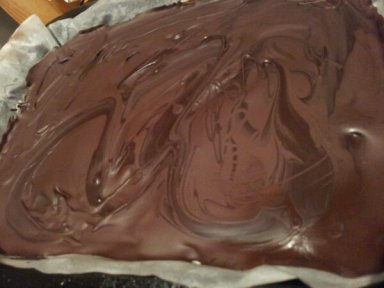 The chocolate layer