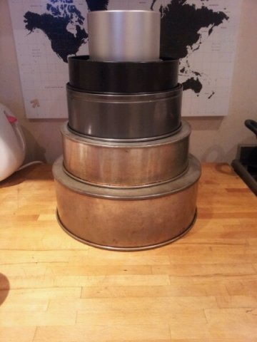 My bakers impression of the final 5 tier wedding cake