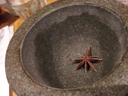 Grind up a star anise