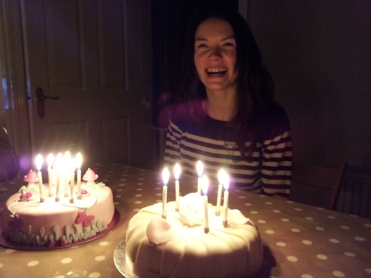 What a lucky birthday girl I am with 2 surprise birthday cakes!