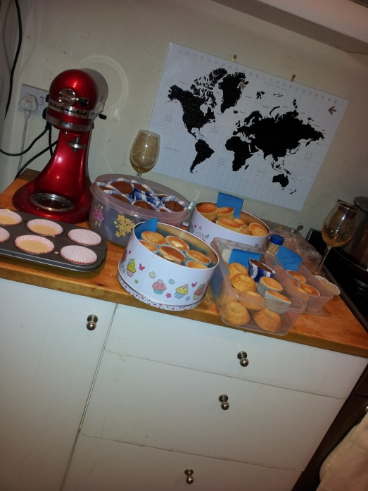 How many cupcakes can 2 girls make in less than 3 hours whilst drinking a bottle of fizz??