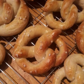 The baked pretzels