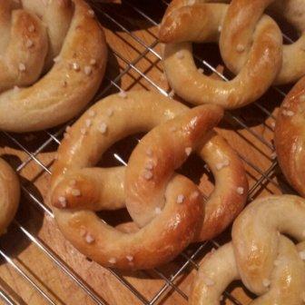 The baked pretzels
