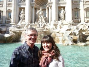 Trevi Fountain adventuring in Rome with my Dad