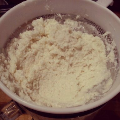 The discarded dessicated coconut - nothing will go to waste in my house! - gelato recipe