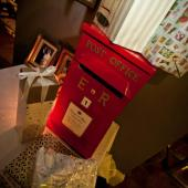 Look what my lovely dad made! Post Box