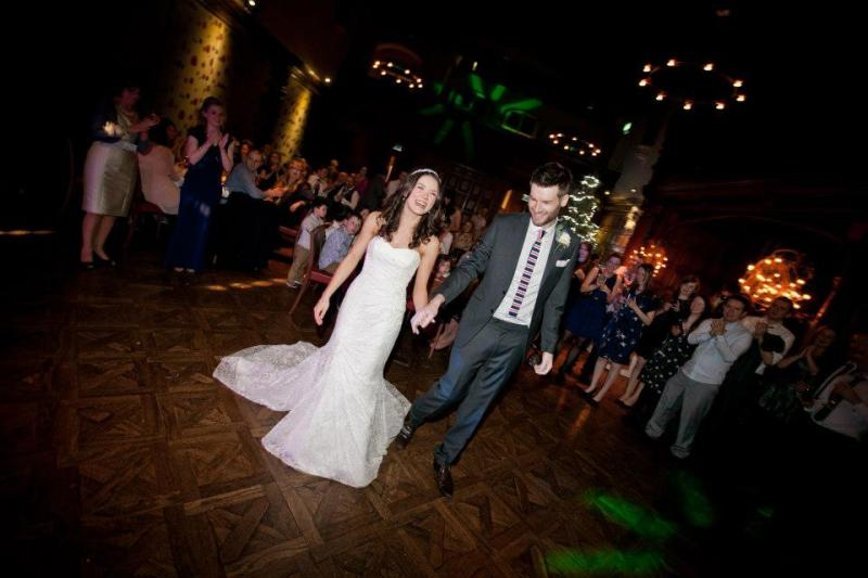 Mr and Mrs Hoy - the first dance