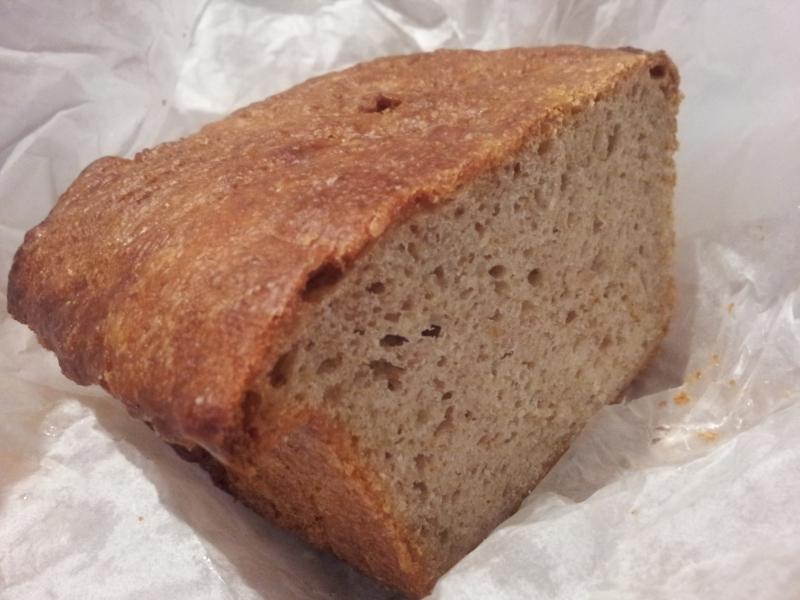 A cross section of Danish Rye Bread