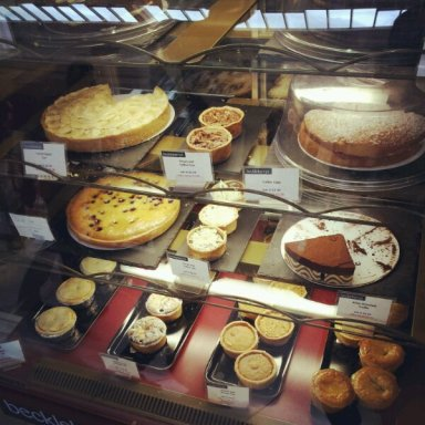 Equally hard to resist the array of cakes on offer