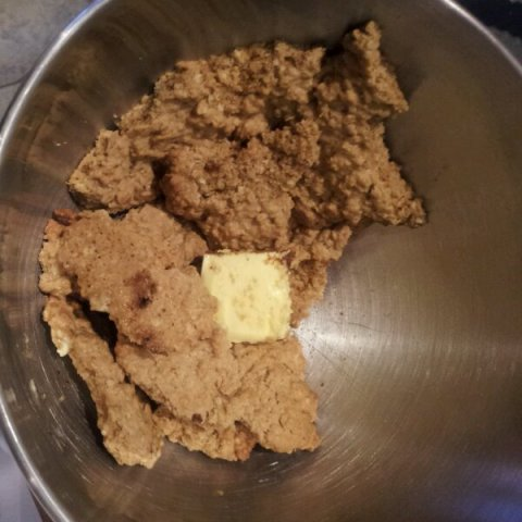 Blend the crumbled cookie together with even more butter and sugar