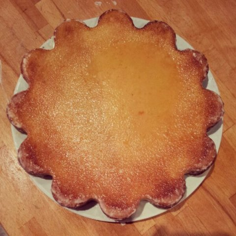 One orange blossom water syrup soaked Armenian Orange Cake