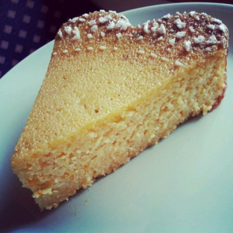 A very moist slice of Armenian Orange and Almond Cake