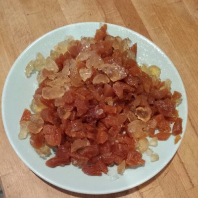 Chopped dried golden fruits