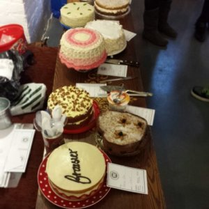 The beautiful collection of cakes at The Clandestine Cake Club