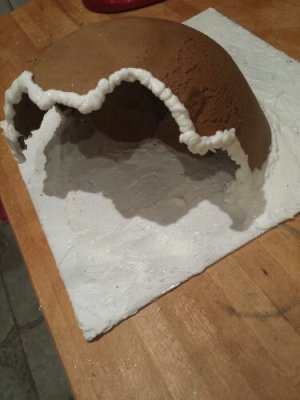 The first gingerbread igloo/cave