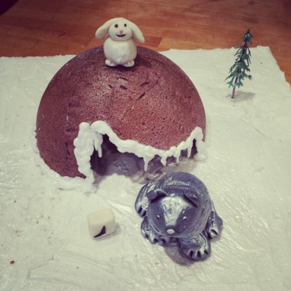 Almost finished Gingerbread Cave