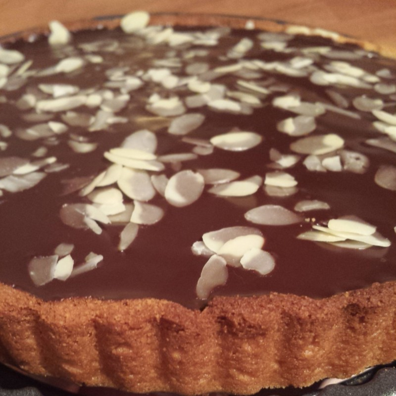 Chocolate Marzipan Tarte with sweet almond pastry