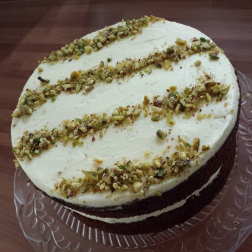 A proper Carrot Cake with cream cheese frosting