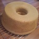 Despite it's saggy ridge the Pandan Chiffon Cake was amazing!