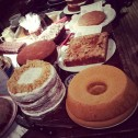 The Pandan Chiffon Cake in amongst the stunning array of Clandestine Cakes