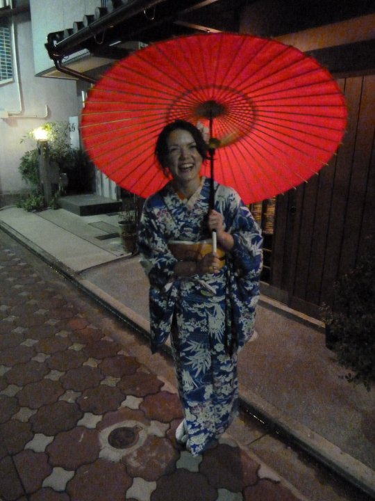 Geisha me before our Japanese Tea Ceremony