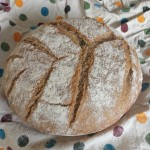 One Corn Ear patterned sourdough boule