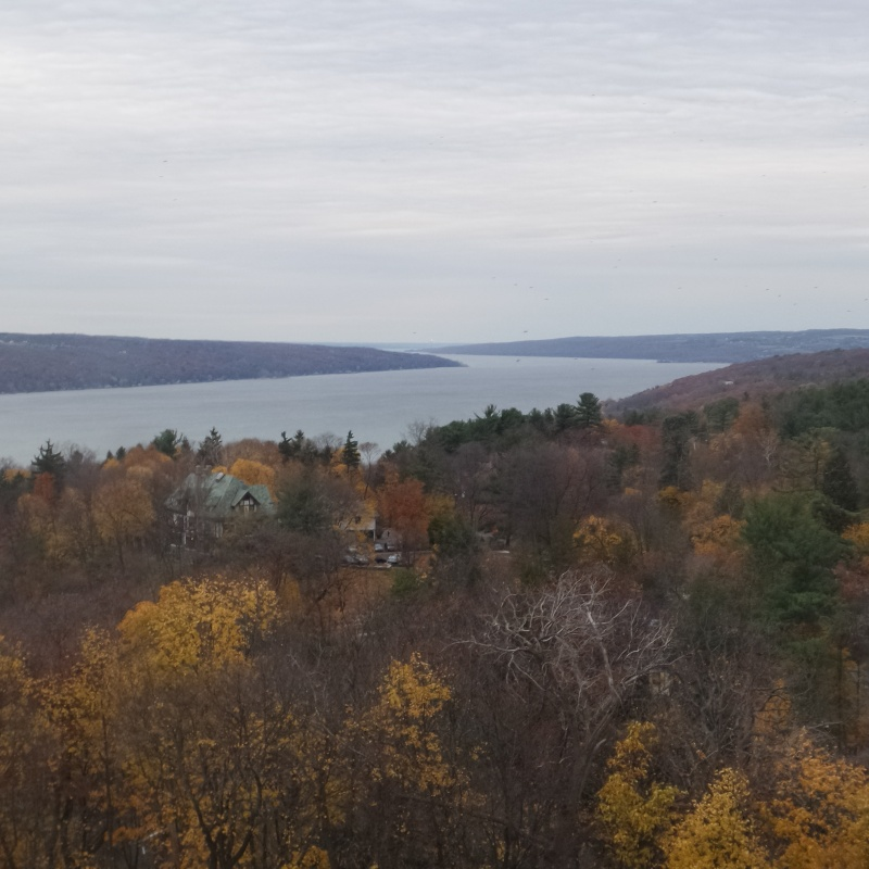 Ithaca - the view across Cornell University Campus