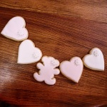 Sugar Cookies for my beautiful niece all pretty in pink and white royal icing