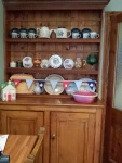 Before I got my hands on it - old kitchen dresser